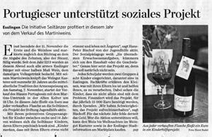 Artikel Stuttgarter Zeitung 06/11/2015